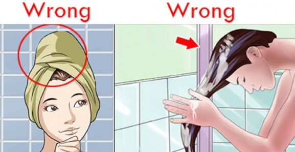Gội đầu không đúng cách chính là một nguyên nhân gây rụng tóc