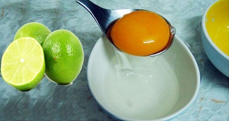 Trứng gà và chanh tươi giúp trị rụng tóc sau sinh hiệu quả